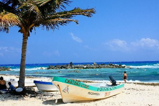 Pacific side of Cozumel Island on the east side.
