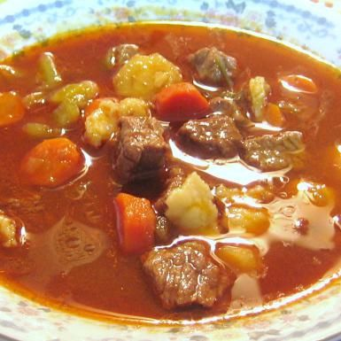 Hungarian Goulash Soup or Gulyas Leves - © 2009 Barbara Rolek licensed to About.com, Inc.