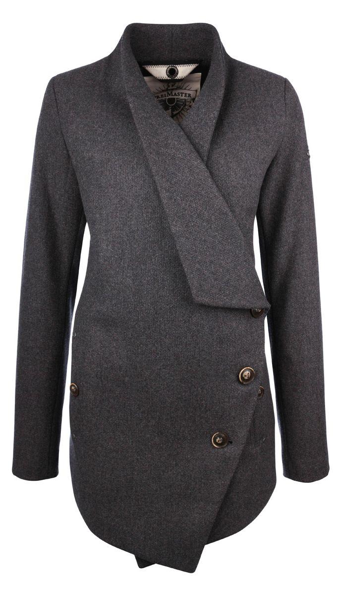 Asymmetrical Wool Coat