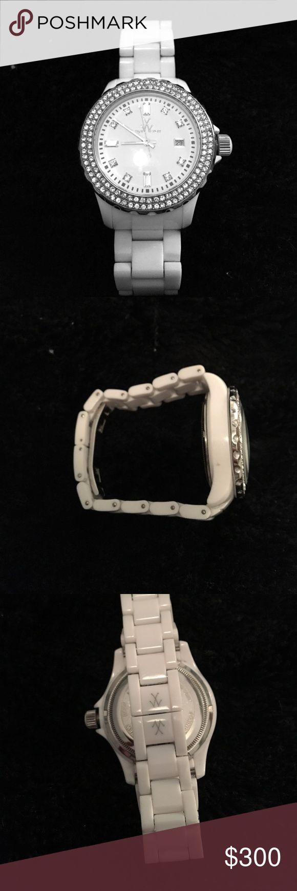 Toywatch plasteramic stone w/ Swarovski crystals Perfect condition. Never been worn Toywatch Accessories Watches
