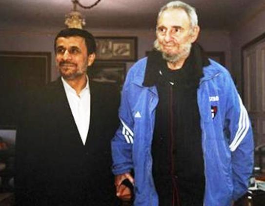 Mahmoud Ahmadinejad, Fidel Castro, Hugo Chavez.   #Classmates