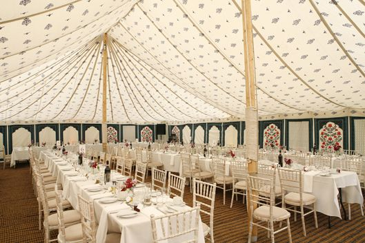Blue Motif Lining available for all LPM Bohemia 40 ft Traditional Canvas Pole Tents.  Available later in 2014 for our 30ft Traditional tents too.