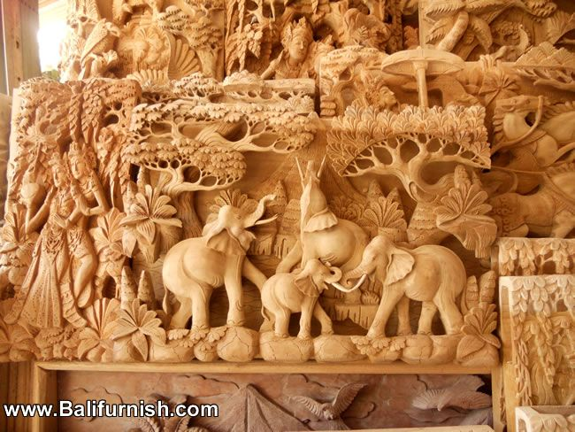 Balinese wood relief crafts pinterest