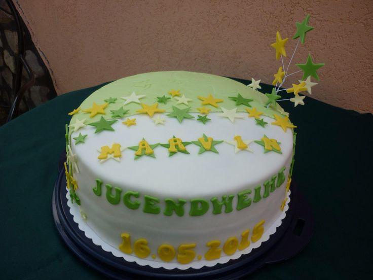 Fondant sterne jugendweihe torte kindergeburtstag for Dekoration jugendweihe