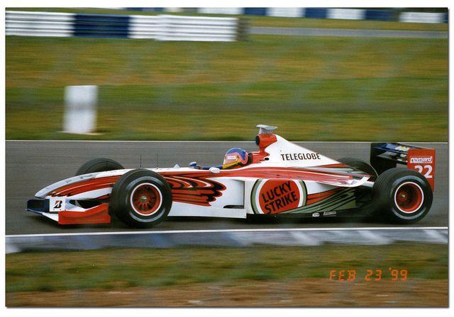 jacques villeneuve 1999   Jacques Villeneuve BAR Supertec 001 F1. British GP Test Silverstone ...
