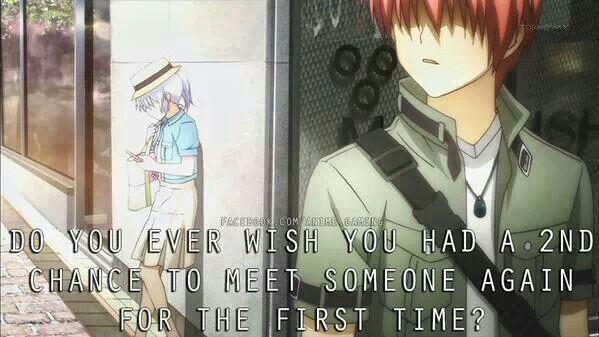 The last moment of Angel Beats! The Best Moment too<-----Except I wish it was longer.