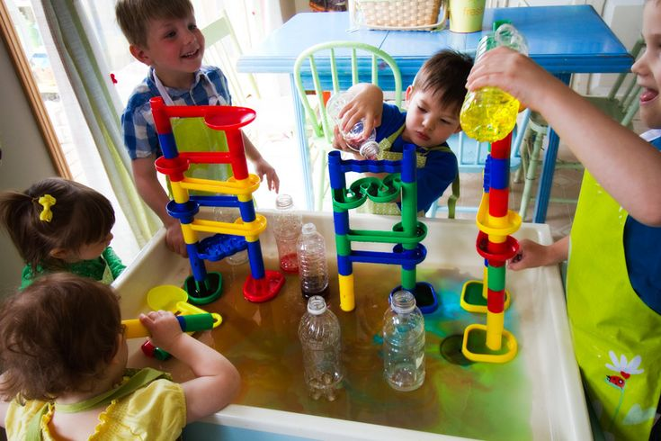 "Love this!!! ""Water"" works in the sensory table! We have marble works never thought of this. Idea for outside this summer"