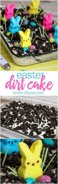 Easter Oreo Dirt Cake – a creamy and delicious Easter dessert that everyone will…   – RECIPES – Desserts