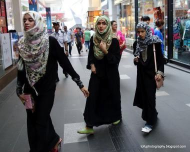 Mujeres árabes de compras