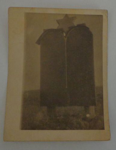 Judaica-Holocaust-memorial-Jews-Star-of-David-Tablets-WWII-Antique-Photo-Jewish