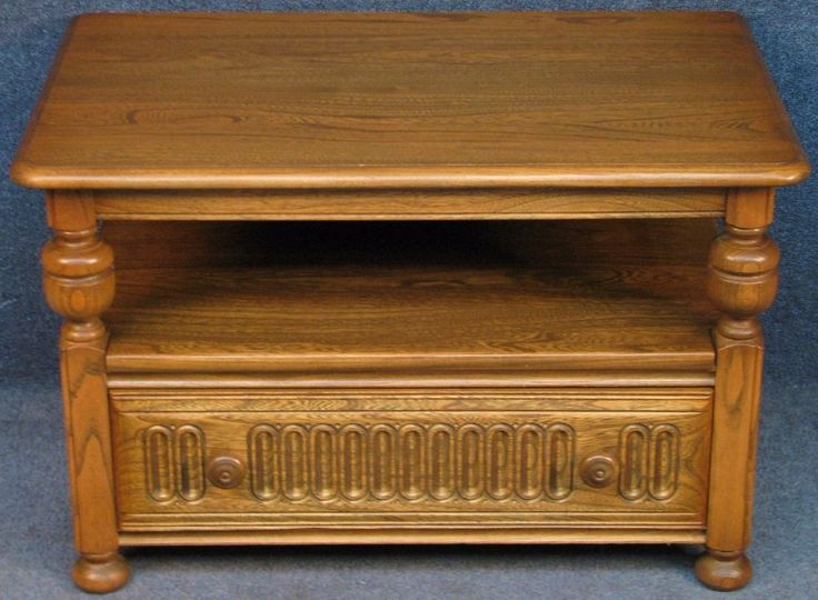 Ercol Elm Warwick 929 Table / Corner TV Stand With Drop Leaf. Golden Dawn #Ercol
