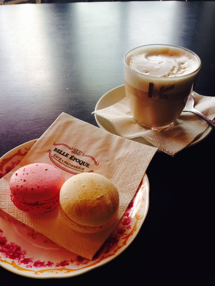 Chewy Macrons and a Creamy Chi Latte my favourite combination.