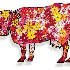 David Gerstein - Floral Cow | Oeuvre d'Art en Vente Artsper