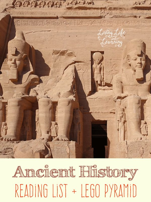Learn all about Ancient history with these great books and build your own Lego pyramid