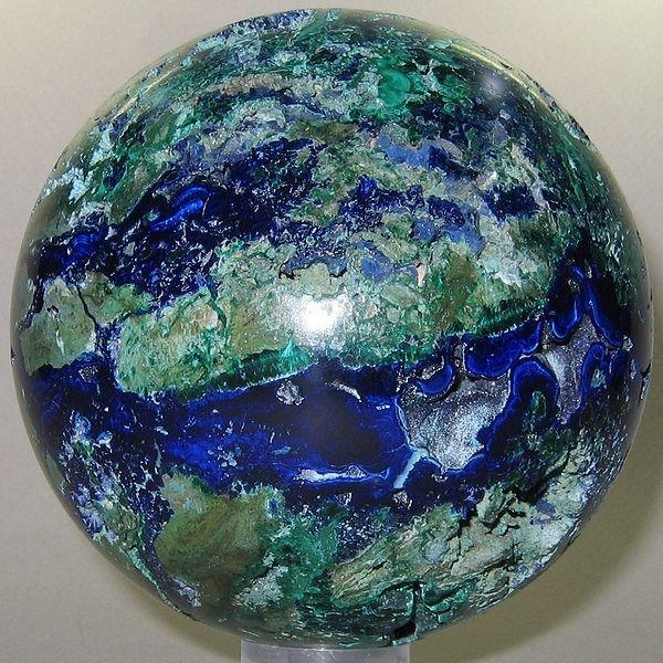 azurite malachite sphere looks like the earth my wishlist products i love pinterest. Black Bedroom Furniture Sets. Home Design Ideas