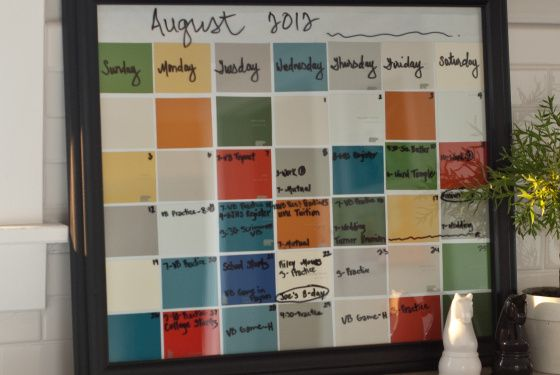 paint chip calendar organizer home sweet home pinterest pl tzchen farbchips und kalender. Black Bedroom Furniture Sets. Home Design Ideas