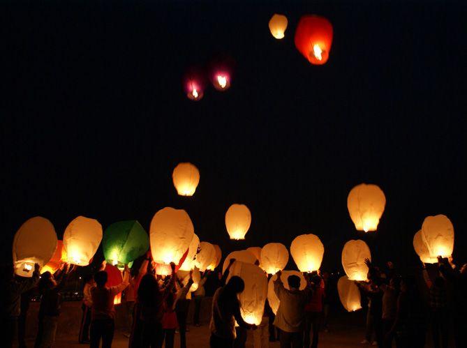 lanternes volantes - Lanterne Volante Mariage