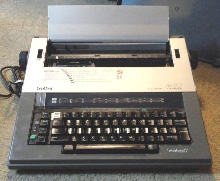 Brother ax20 electric typewriter word spell auto correct