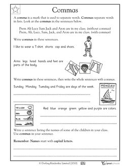 24 best images about comma worksheets on pinterest english activities and student. Black Bedroom Furniture Sets. Home Design Ideas
