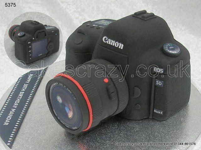Canon Eos Camera Cake