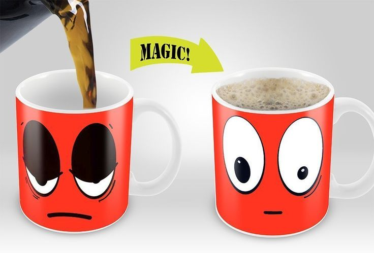 Heat Sensitive Mug, Color Changing Coffee Mug Best Price. Heat Sensitive Mug | Color Changing Coffee Mug | Funny Coffee Cup | Red Wake Up Funny Face | 11oz 100% Ceramic Mugs| Great Gift Idea  -Considering how a great many people wake up grouchy in the early hours this astonishing mug will help begin off the day in an idiosyncratic and energetic way.Perfect for tea, coffee, cappuccino , hot chocolate  - Heat Sensitive Mug, Color Changing Coffee Mug #Heat #Sensitive #Mug