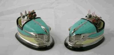 Bumper Car Salt & Pepper Shakers