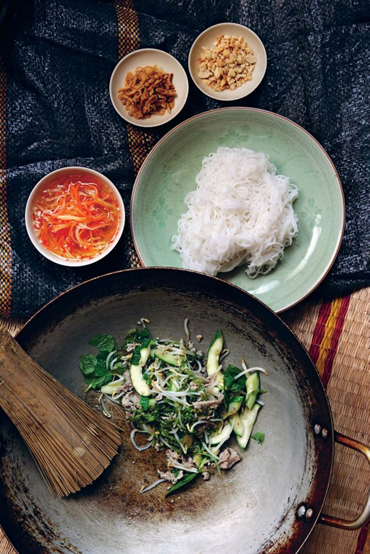 Stir-fried lemongrass beef with noodles by Tracey Lister from Vietnamese Street Food | Cooked