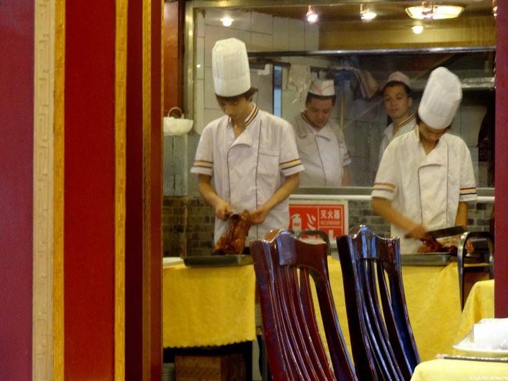 Chefs preparing Beijing duck in Beijing, China