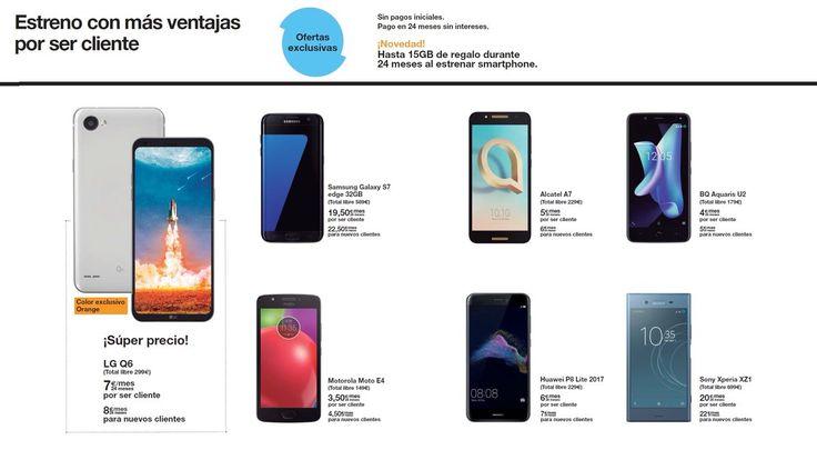 Estrena móvil 📱 con más ventajas por ser cliente! y aprovecha las ofertas exclusivas de este mes en Orange #Smartphones #Samsung #LG #Alcatel #Huawei #Sony #BQ