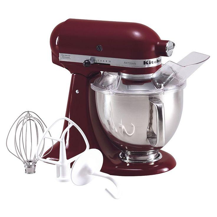 KitchenAid KSM150PS Artisan 5-qt. Stand Mixer, Red