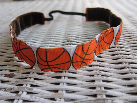 Basketball Athletic Headband – Sports Headband – Headband for Girls – Headband for Women – Team Headband – No Slip Headband – Hair Bands – Basketball bows