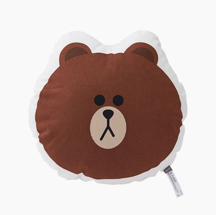 LINE Friends Shaped cushion Brown face Character Doll Gift Toy Original GENUINE #LINEFriends #Dolls