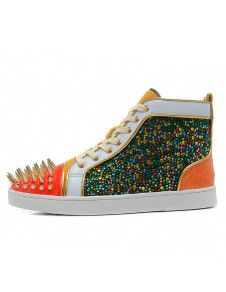 Sneakers Unique Rhinestone Studded Sheepskin Suede Man's Stylish Sneakers