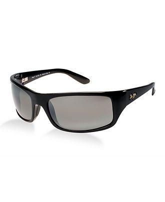 Maui Jim Sunglasses, 202 Peahi - Mens Sunglasses - Macy's