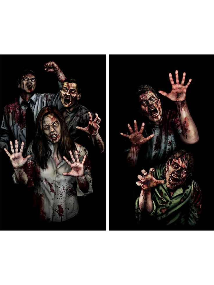 zombie asylum window cover wholesale halloween decor for your home or business - Fright Catalog Halloween Decorations