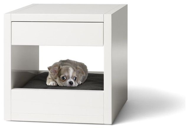 side table/nightstand that doubles as a dog bed — brilliant.