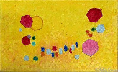 #Jazz #improvisation, 2015, 26 x 16 cm oil on canvas by #Sofia #Tsimini