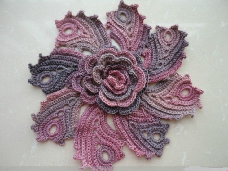crochet flower  leaf tutorial