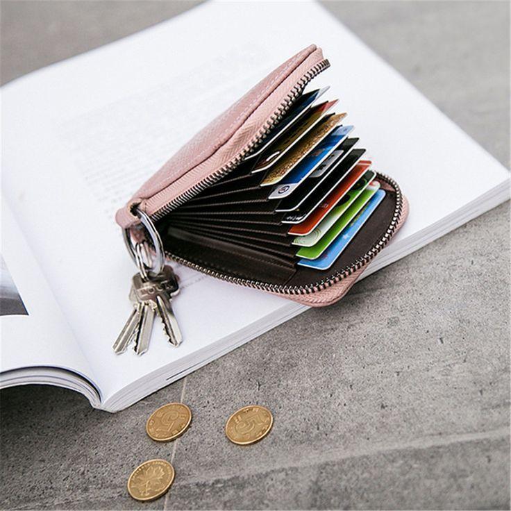 RFID Kartenetui Kreditkartenetui Damen Mädchen Portemonnaie Mini Visitenkartene