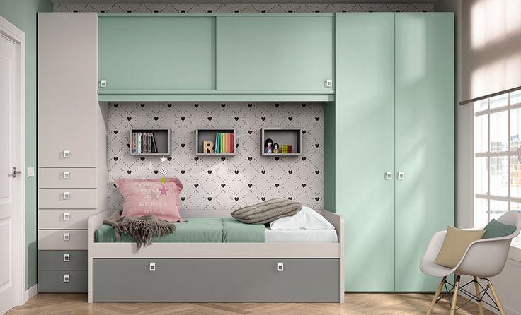Cama nido de Muebles Arasanz. Buena calidad a buen precio. Descubre más ideas en nuestra tienda o web. #camasnido