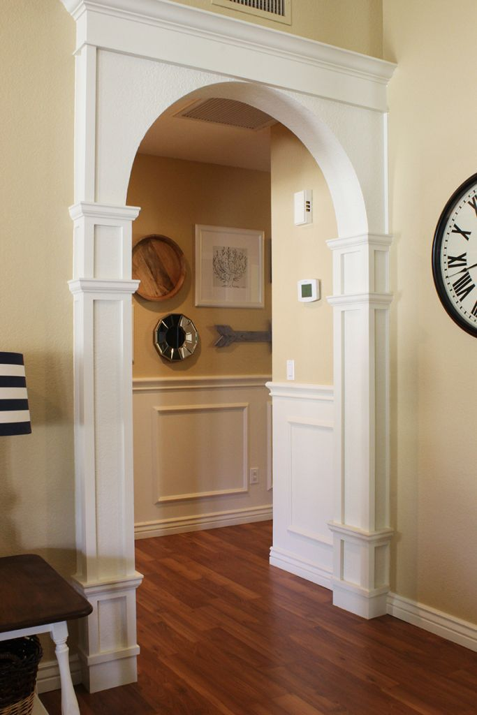 101 best images about diy molding trim wainscoting on for Decorative archway mouldings