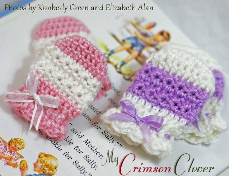 33 best BABY MITTS images on Pinterest   Crochet gloves, Crochet ...