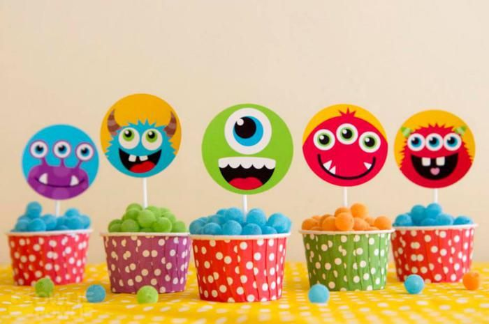 Fiesta Monstruo colorido través KarasPartyIdeas.com #MonsterParty #boy #monster #party #idea (5)