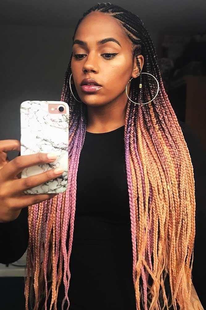 Nice 31 Latest One Million Braids Hairstyle Trends 2020 12 Images 35 Attention Grabbing Fula Hair Styles Natural Hair Styles Braided Hairstyles