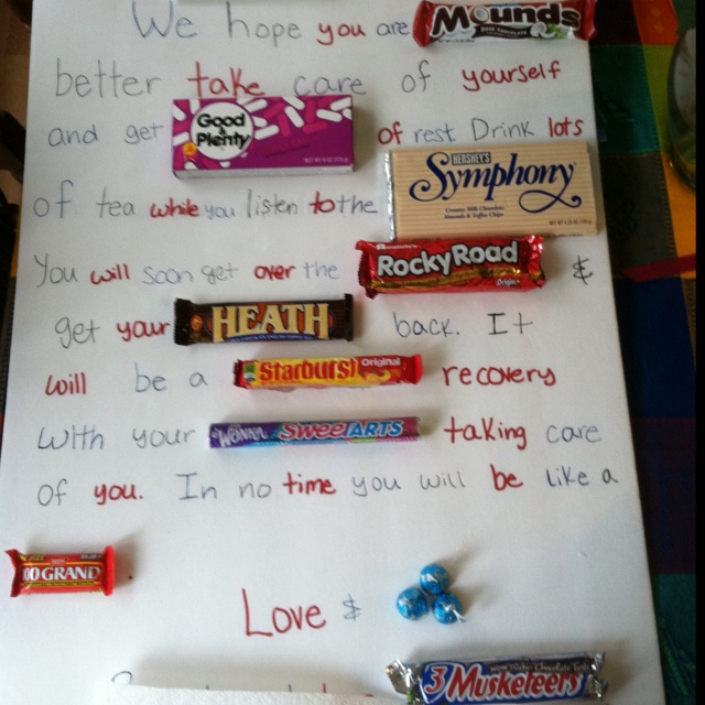 candy bar cards for valentine's day