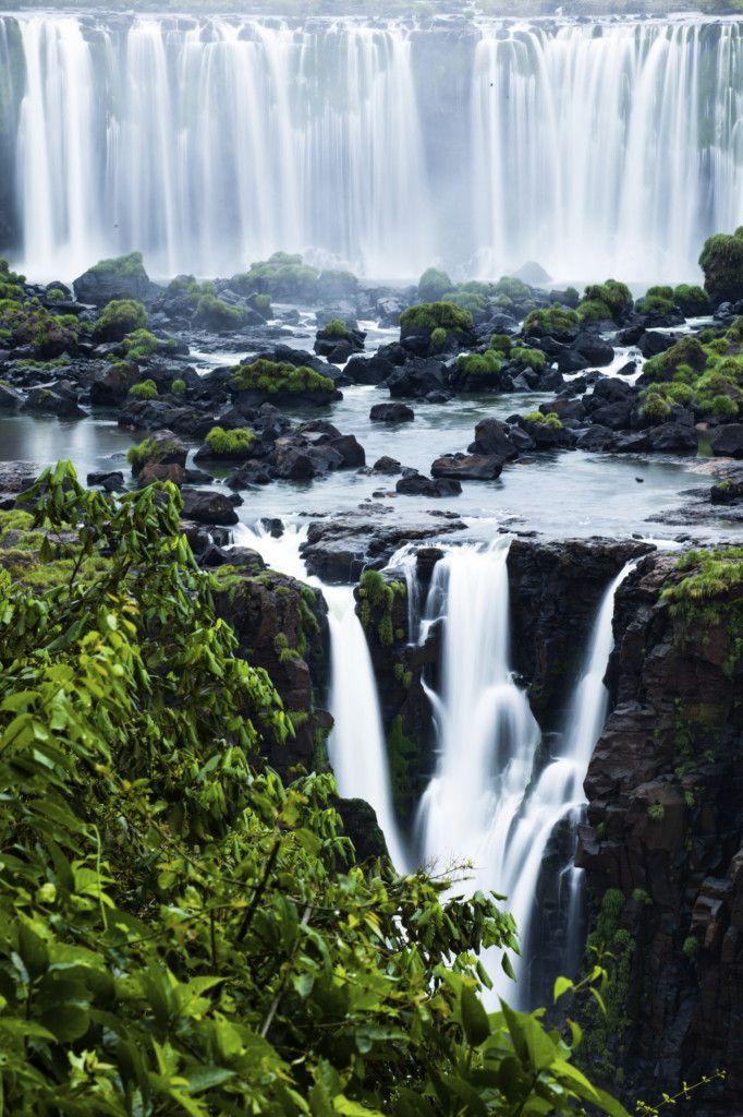 View of Iguazu Falls from Brazil.