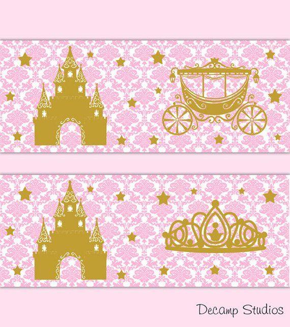 Vinyl sticker for IKEA box frame princess carriage