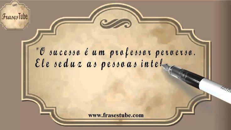 """Frases de Bill Gates #01 """"O sucesso é um professor perverso. Ele seduz as pessoas inteligentes e as faz pensar que jamais vão cair.(Bill Gates)"""""""