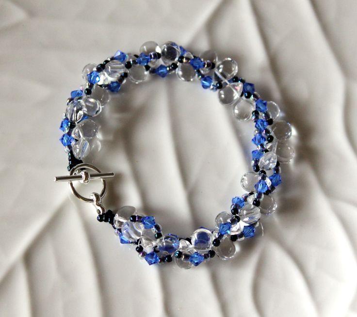 Soft and elegant bracelet made up of Swarovski Crystals, Glass Beads and Japanese Seed beads. Length -19cm. $42 www.preciouzpiecez.com.au