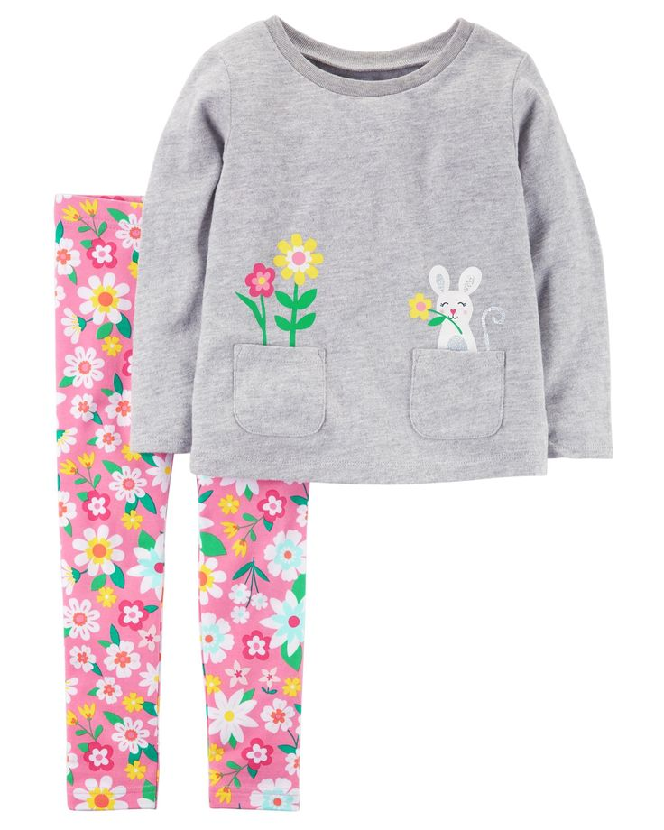 Baby Girl 2-Piece Jersey Top & Floral Legging Set from Carters.com. Shop clothing & accessories from a trusted name in kids, toddlers, and baby clothes.